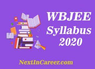 WBJEE Syllabus 2020