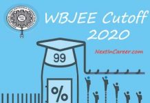 WBJEE Cut off 2020