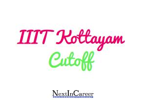 IIIT Kottayam Cutoff