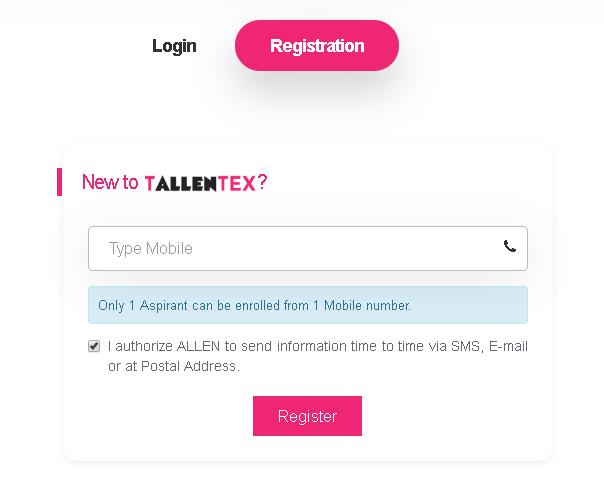 TALLENTEX Registration 2020