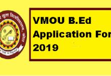 VMOU B.Ed Application Form 2019