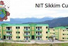 NIT Sikkim Cutoff