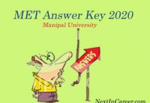 MET Answer Key 2020