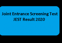 JEST Result 2020