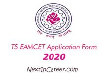 TS EAMCET Application Form 2020