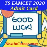 TS EAMCET Admit Card 2020