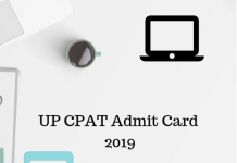 UP CPAT Admit Card 2019