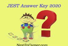JEST Answer key 2020