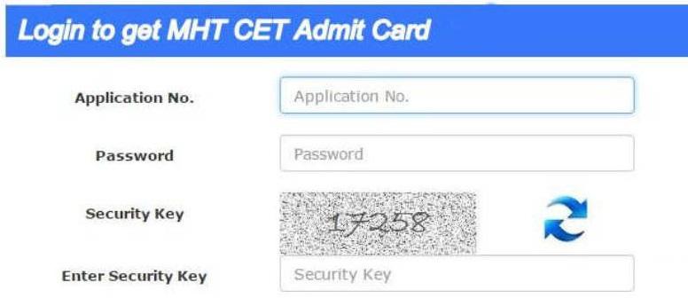 MHT CET admit login