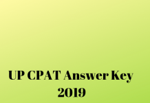 UP CPAT Answer Key 2019