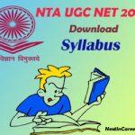 NTA UGC NET Syllabus 2020