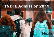 TNDTE Admission 2019