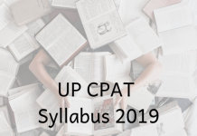 UP CPAT Syllabus 2019