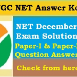 UGC NET Answer Key 2020