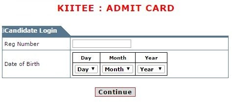 kiitee admit card login