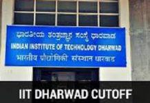 IIT Dharwad Cutoff
