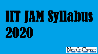 IIT JAM Syllabus 2020-Syllabus, Exam Pattern, Recommended Books