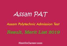 Assam PAT 2019 Result
