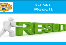 GPAT Result 2020