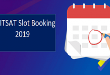 BITSAT Slot Booking 2019