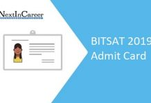 BITSAT 2019 Admit Card