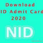 NID Admit Card 2020