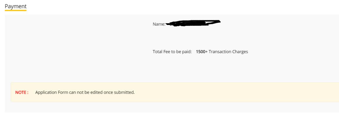 JIPMER 2019 Payment