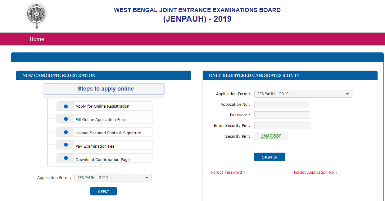 JENPAUH Application Form 2019