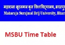 Brij University Time Table