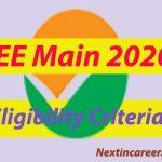 JEE Main Eligibility Criteria 2020