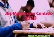JEE Main Exam Centres 2020