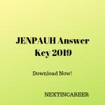 JENPAUH Answer Key 2019