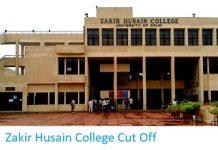 Zakir Husain College Cut Off