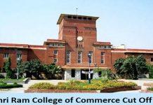 Shri Ram College of Commerce Cut Off