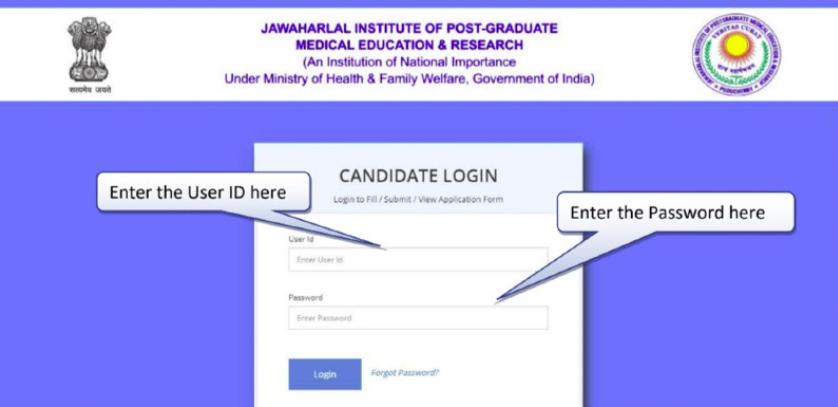 JIPMER B.Sc Nursing Application  Form 2019