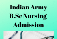 Indian Army B.Sc Nursing Admission