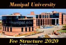 Manipal University Fee Structure 2020