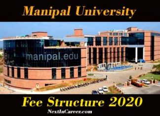 Manipal University Fee Structure 2020