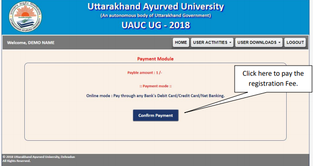 UAPMT Fees Payment