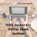 NEET Answer Key 2019 by Akash Institute