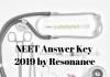NEET Answer Key 2019 by Resonance