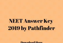 NEET Answer Key 2019 by Pathfinder