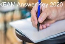 KEAM Answer Key 2020