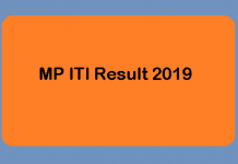 MP ITI Result 2019