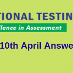 JEE Main 10th April Answer Key 2019