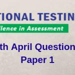 JEE Main 8th April Question paper 2019