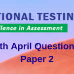JEE Main 7th April Question Paper 2019