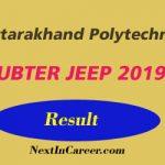 Uttarakhand Polytechnic JEEP Result 2019