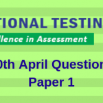 JEE Main 10th April Question Paper 2019