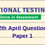 JEE Main 12th April Question Paper 2019